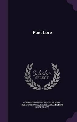 Poet Lore by Gerhart Hauptmann image