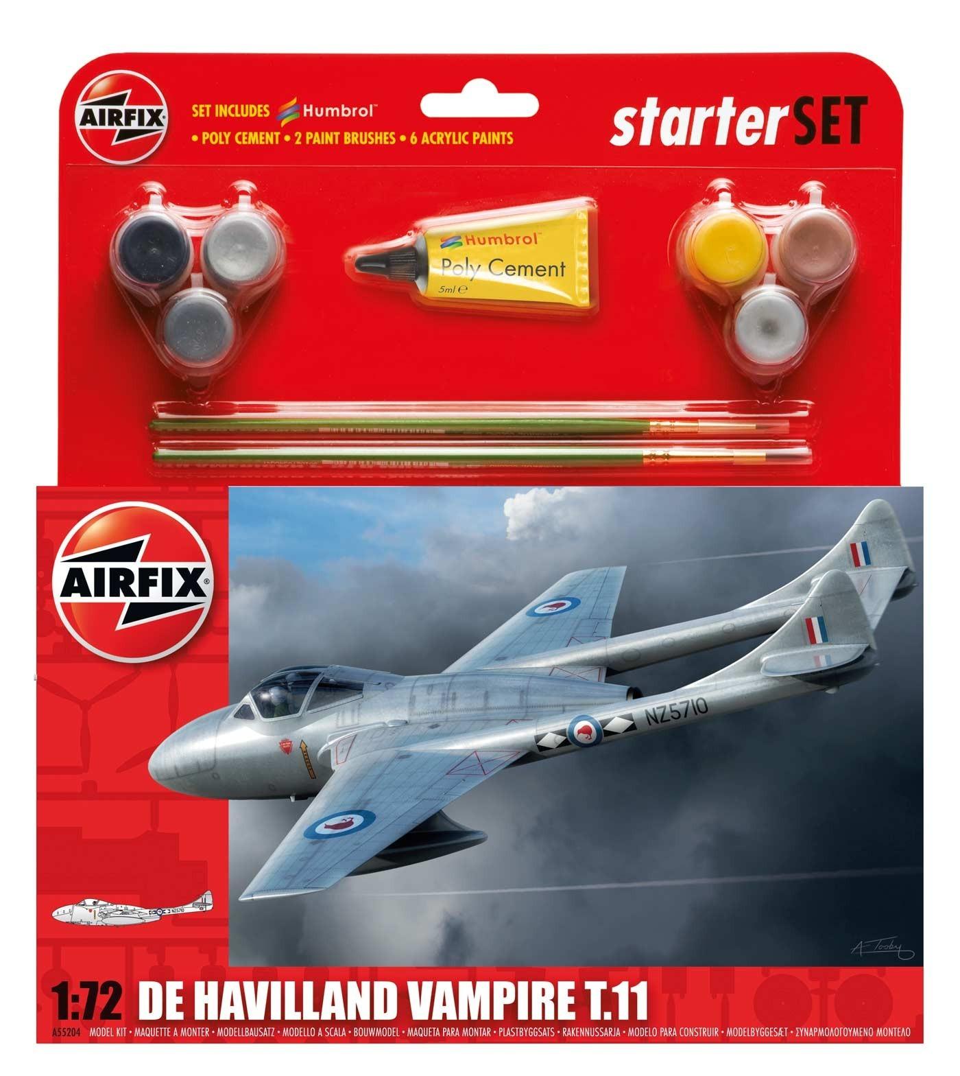 Airfix De Havilland Vampire T11 Starter Set 1/72 Model Kit image