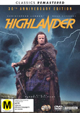 Highlander (30th Anniversary + Remastered) DVD