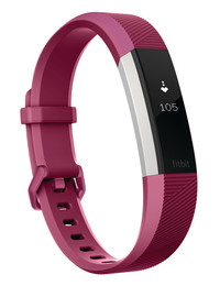 Fitbit Alta HR Fitness Tracker - Fuchsia Small