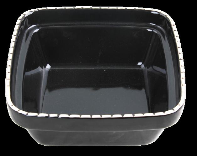 Pawise: Verona Ceramic Bowl - 550ml/Black