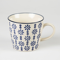 Agatha Daisy Print Mug - Blue