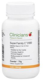 Clinicians Super Family Vitamin C 2000mg Powder (75g)
