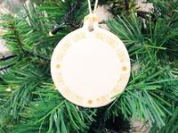 Hilda Hanging Merry Xmas Decoration (9cm)