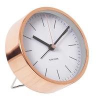 Karlsson Minimal Alarm Clock - White