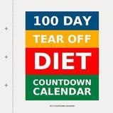 100 Day Tear-Off Diet Countdown Calendar by Buy Countdown Calendar