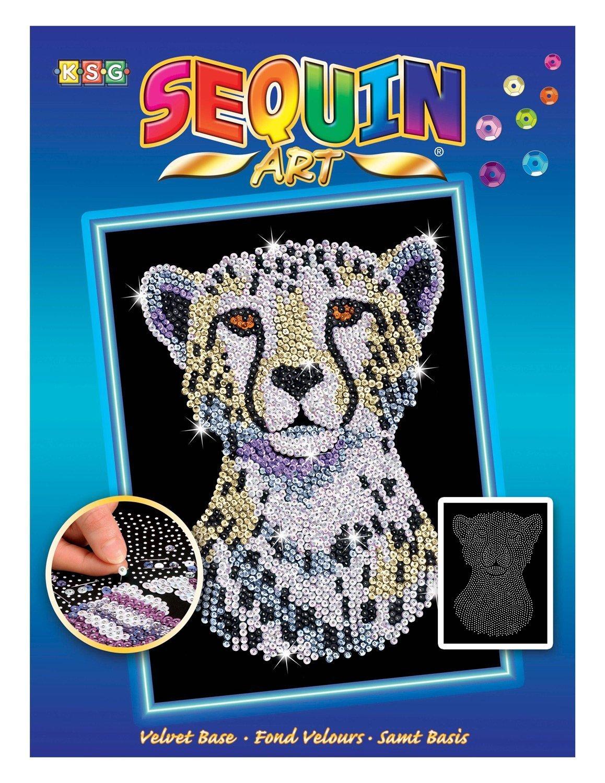 Sequin Art - Snow Cheetah image
