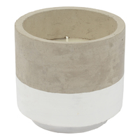 Concrete Citronella Candle - White (Large)