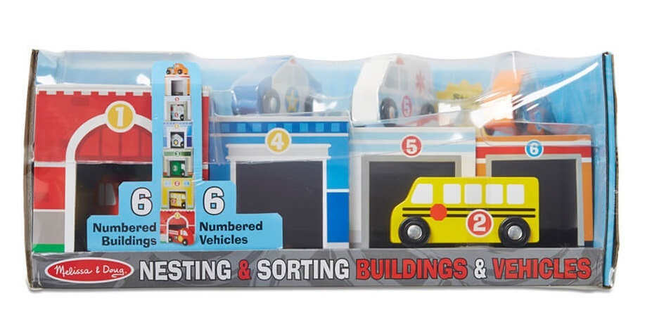 Nesting & Sorting - Vehicles & Buildings Set image