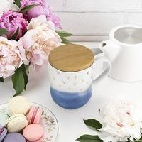 Casey Blue Ceramic Tea Mug & Infuser