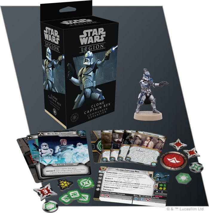 Star Wars Legion: Clone Captain Rex Commander Expansion image