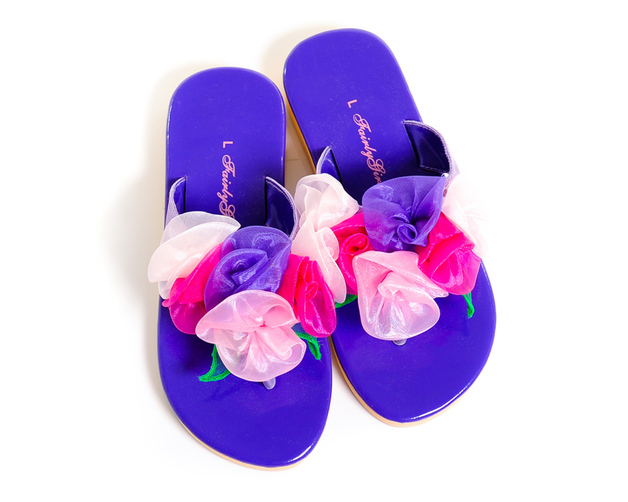 Fairy Girls - Heavenly Jandals in Lilac (Small, age 2-4)