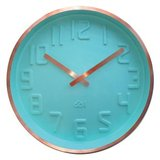 Deluxe Copper Rim Curve Clock - Mint