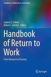 Handbook of Return to Work