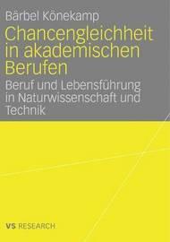 Chancengleichheit in Akademischen Berufen by B Rbel K Nekamp