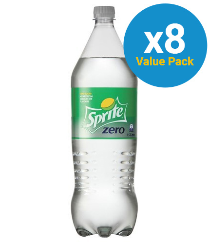 Sprite Zero Soft Drink Lemonade 1.5l (8 Pack)