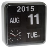 Karlsson Mini Flip Calendar Wall Clock - Silver