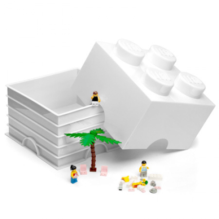 LEGO: Storage Brick 4 - White
