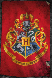 Harry Potter - Hogwarts Flag Wall Poster (405)