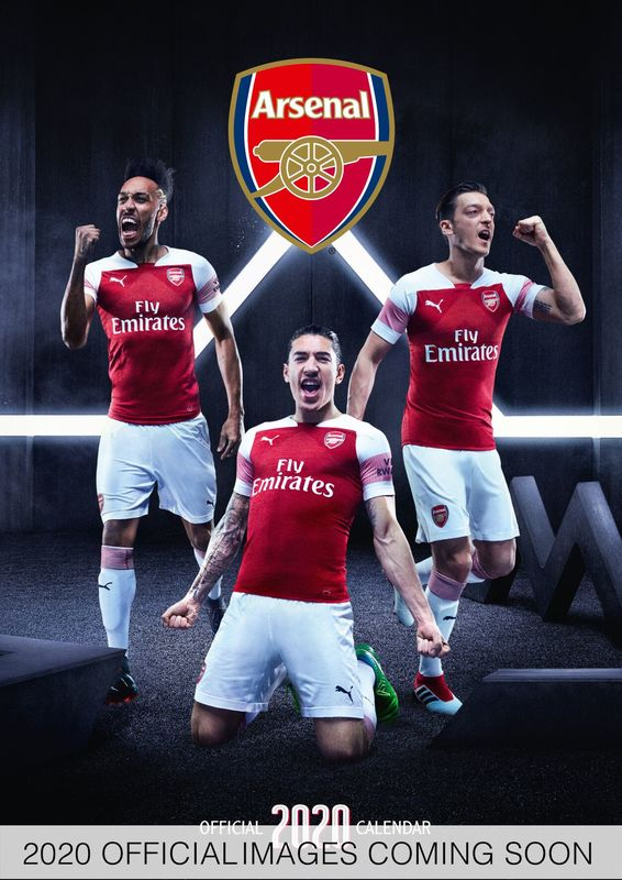 Official Arsenal 2020 A3 Wall Calendar