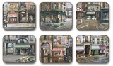 The Village Square Coasters (Set 6)