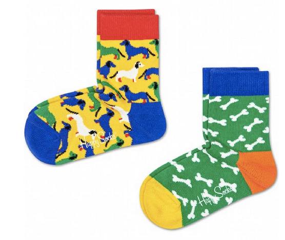 Happy Socks: Socks 2-Pack - Dogs (4-6Y)