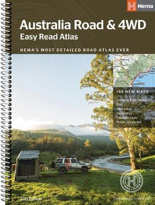 Australia Easy Read Road and 4WD atlas A3