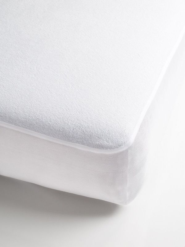 Brolly Sheets: Waterproof Towelling Mattress Protector - Queen