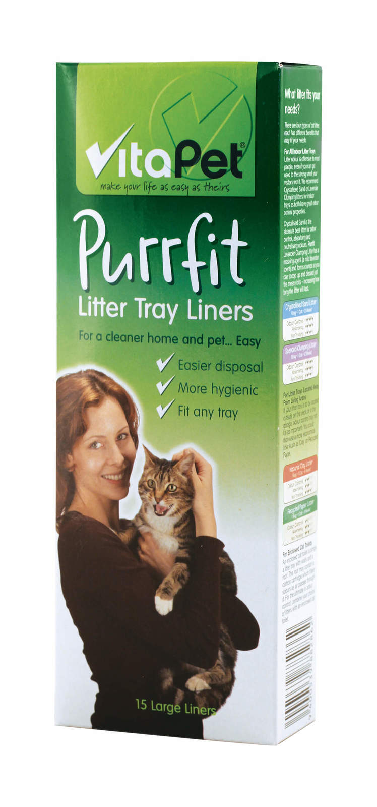 Vitapet: Litter Tray Liners (15 Pack) image