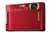Sony DSCT100R 8.1MP Digital Camera - Red