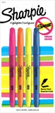 Sharpie Pocket Accent Highlighters Assorted Colours Pack of 4