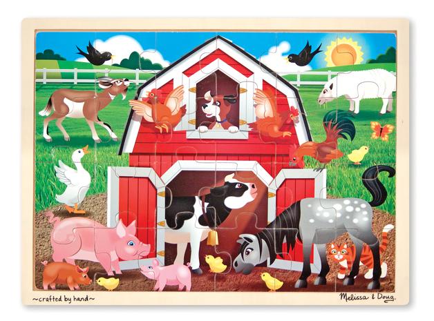 Melissa & Doug: Barnyard Buddies Wooden Jigsaw - 24pc