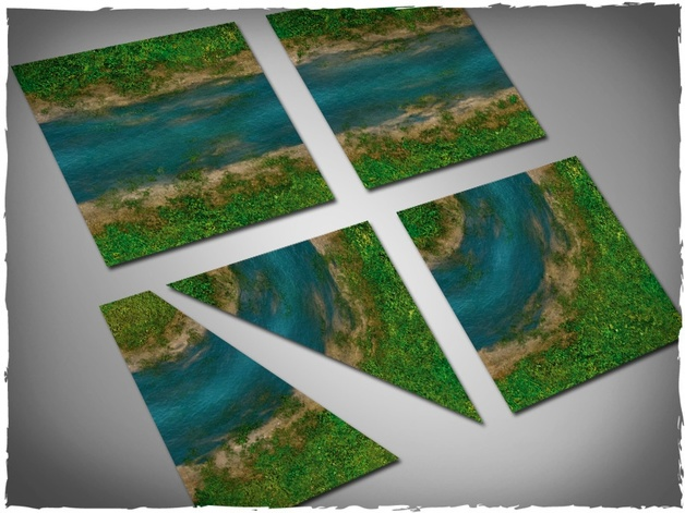 DeepCut Studios Clear River Neoprene Tiles Set