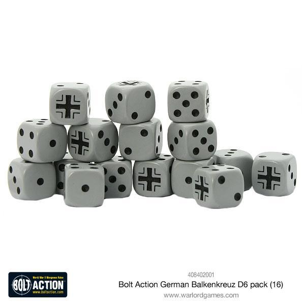 Bolt Action German Balkenkreuz D6 pack (16)