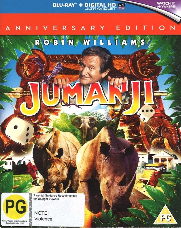 Jumanji (Anniversary Edition) on Blu-ray