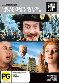 Adventures Of Baron Munchausen on DVD