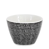 Ceramic Cotton Tip Bowl (Black Spot)