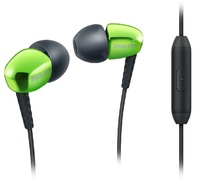 Philips In Ear Metallic Headphones With Mic (Green)