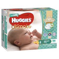 Huggies Ultimate Nappies: Jumbo Pack - Infant 4-8kg (96) image