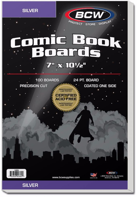 """BCW: Comic Backing Boards - Silver (7"""" x 10.5"""")"""