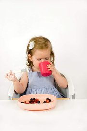 Beaba: Silicone meal set - 4 pcs/Pink