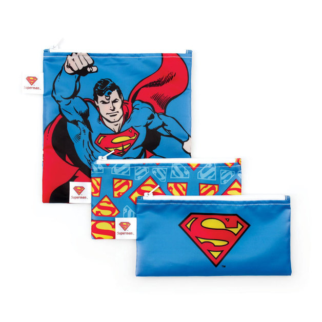 Bumkins 3pk Snack Bag Combo - Superman