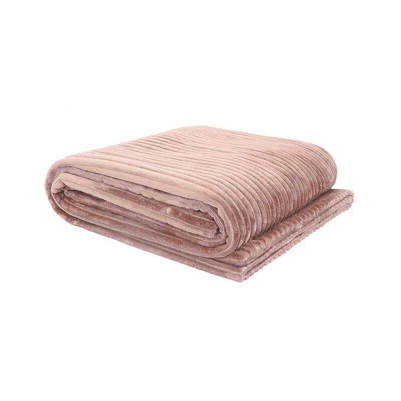 Bambury Rosewater Channel Ultraplush Throw (200 x 150cm) image