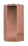 General Eclectic Med Hexagonal Tealight Holder - Copper