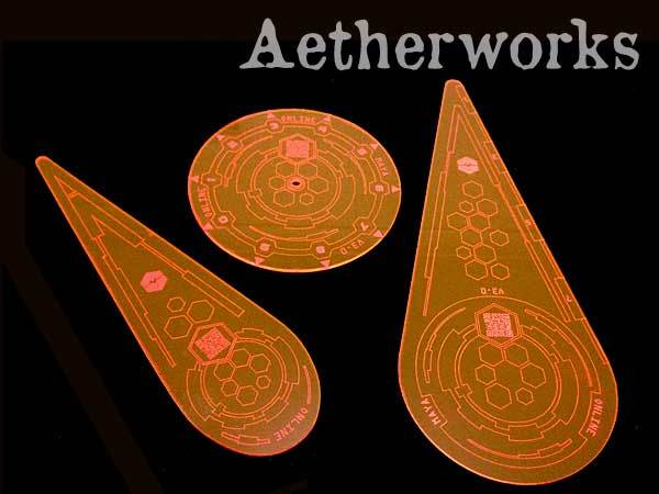 Aetherworks: Infinity Compatible Templates - Fluorescent Red (3 Pack)