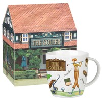 Queens At Your Leisure Golfer Squash Mug In Box (400ml)