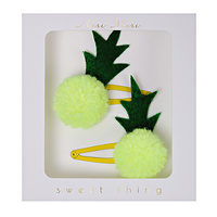 Hair Clips Pineapple Pom Pom