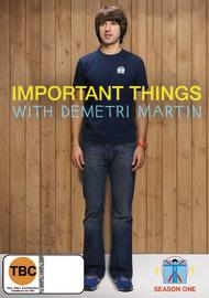 Important Things with Demetri Martin - Season 1 on DVD