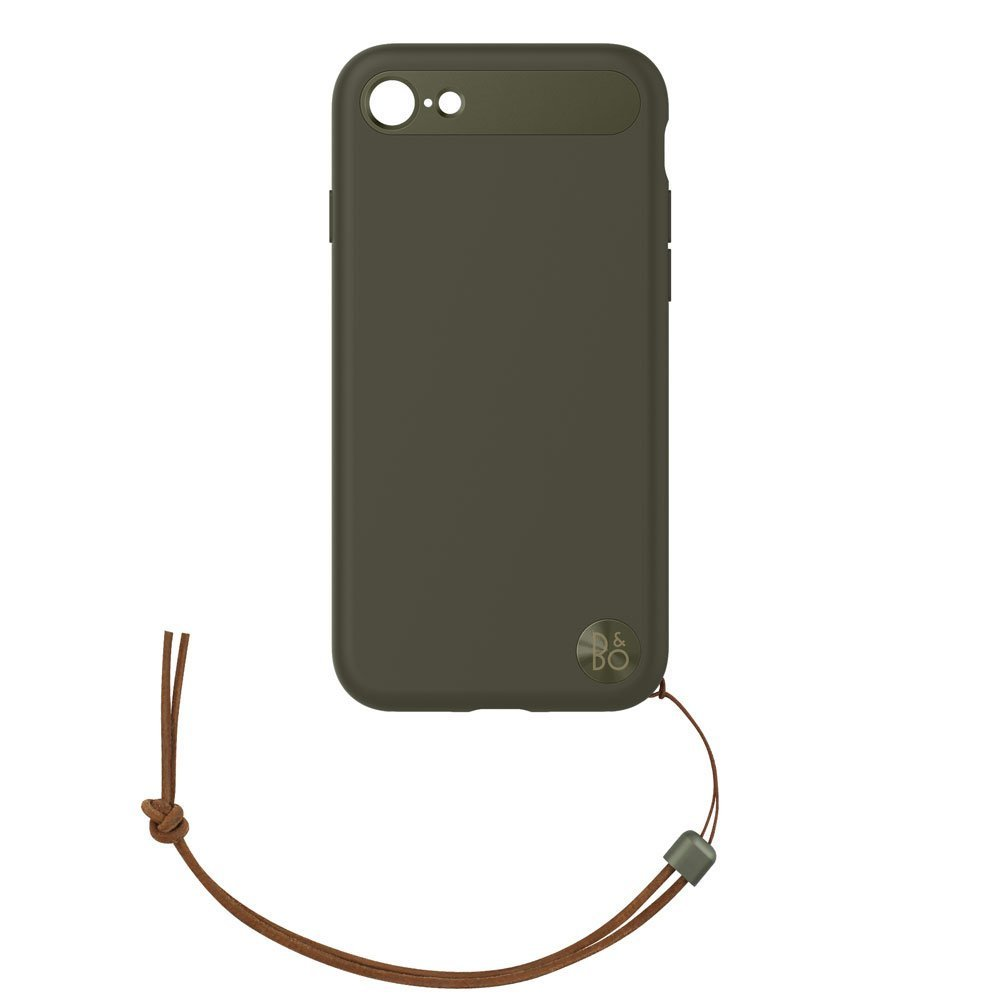 B&O Leather Case for iPhone 8 & iPhone 7 - BlackB&O Case with Lanyard for iPhone 8 & iPhone 7 - Moss Green image