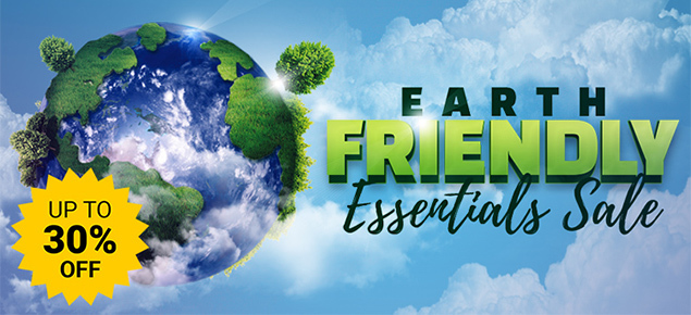 Eco-Friendly Essentials - up to 30% off!